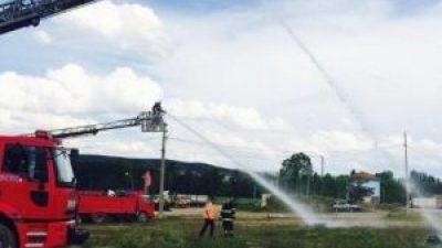 Hisarcık Belediyesi İtfaiye Amirliği'nden Yangın Tatbikatı