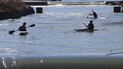 Rize'de kano yarışları
